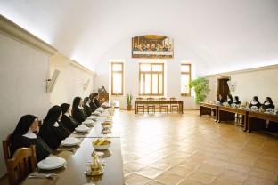 Refettorio, Monastero Benedettine, Boville Ernica, clausura